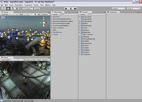 unity inspector layout 我的程式開發筆記 unity3d 教學 02 unity 操作介面