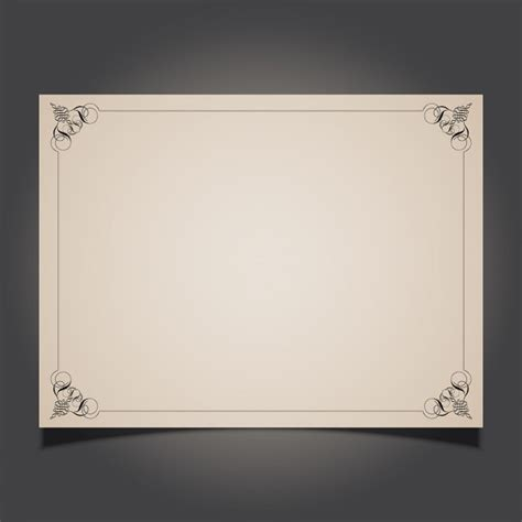 template border card decorative border card vector free