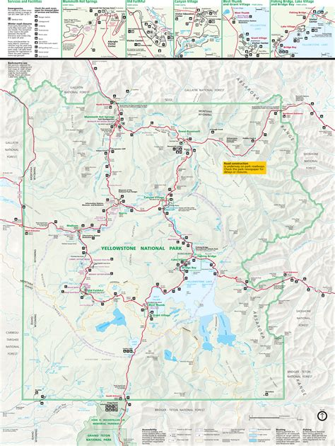 pdf maps yellowstone national park map pdf images
