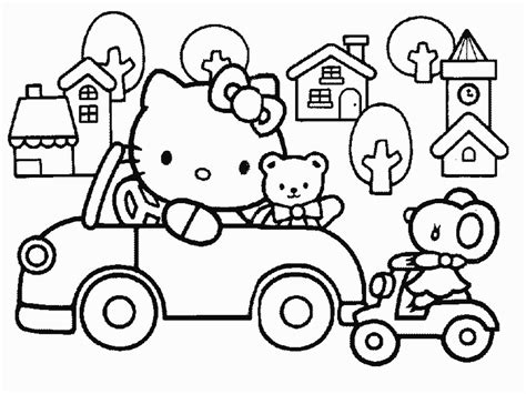 hello kitty car coloring pages hello kitty driving car coloring book 525716 171 coloring