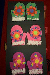mitten pattern art project cute winter art idea to go with quot the mitten quot by jan brett