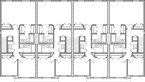 fourplex floor plans fourplex plan 20 ft wide house plan row home plan 4