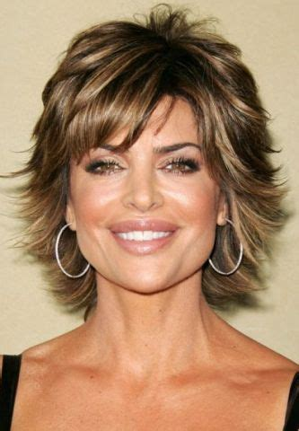 medium length hair syles feathered back on top with thin bangs 17 best ideas about lisa rinna on pinterest short shag
