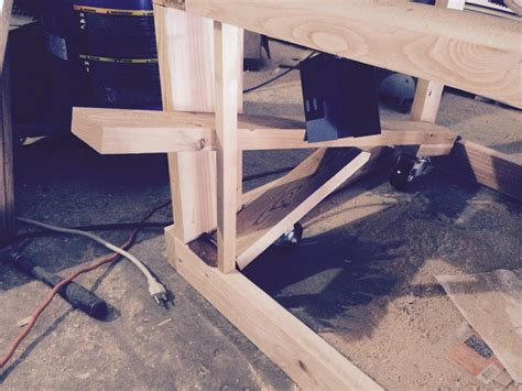 work bench on wheels retractable workbench wheels diy
