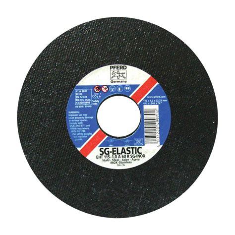 acero corte disco para corte de acero inoxidable 4 1 2 quot sg elastic pferd