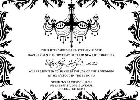 Wedding Invitations Template Set Psd Photoshop Gimp Black And White Invitation Templates Free
