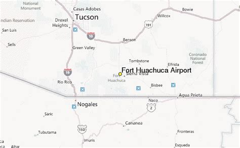 fort huachuca map fort huachuca airport weather station record historical