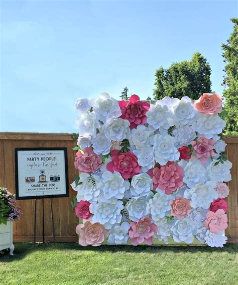 Wedding Banner Wall by Best 25 Paper Flower Wall Ideas On