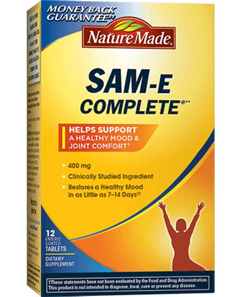 sam e supplement nature made sam e complete 400 mg tablets