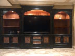 Transitional entertainment center in black entertainment centers