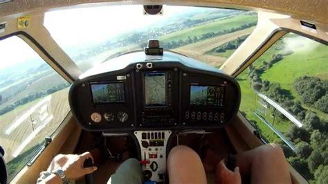 ct light sport aircraft flight design ctls cockpit view landing