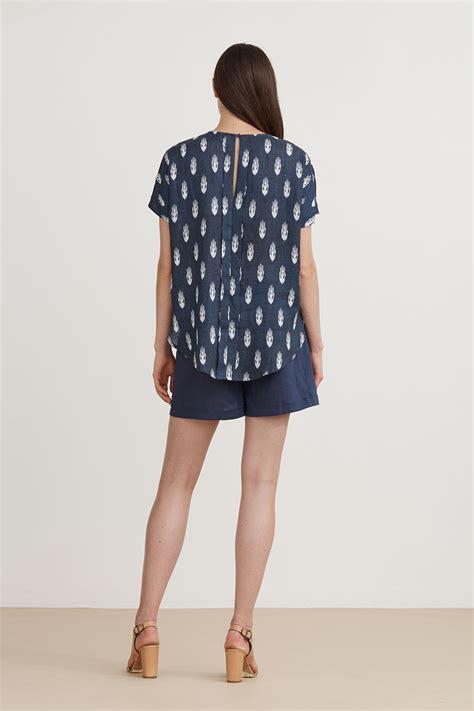 Blouse Batik 149 the dreamer label batik linen triangle blouse else and