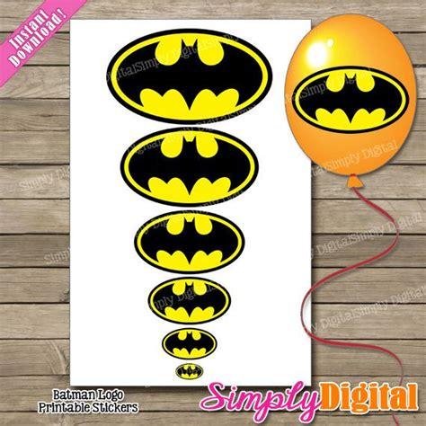 printable batman logo stickers 8 best images of logo for batman party favors free