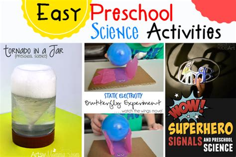 science activities for kindergarten easy preschool science activities