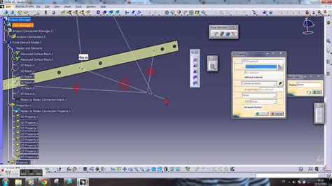tutorial structure design catia fem catia v5 tutorial wall mount analysis youtube
