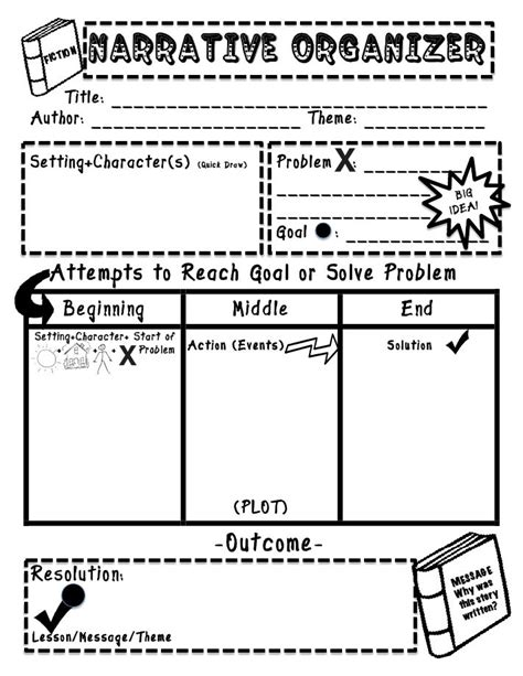 Narrative Essay Writing Graphic Organizers by Graphic Organizer For Narrative Classroom Language Arts Writing Wo