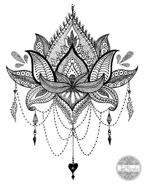 fleur de lotus mandala coloriagetv mandala tattoo dotwork google search mandala