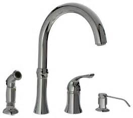 chrome four kitchen faucet traditional kitchen
