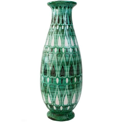 Deco Ceramic Vases by Deco Decorated Ceramic Vase By