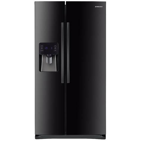 shop samsung 24 5 cu ft side by side refrigerator with single maker black energy at