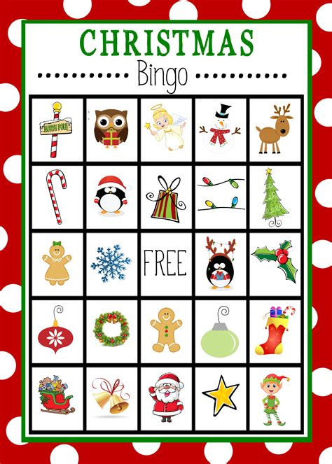 Printable Holiday Bingo Games | free printable christmas bingo game