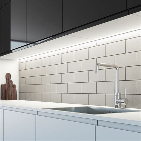 strip lighting for under kitchen cabinets sensio arrow 200mm sls led under cabinet strip light cool