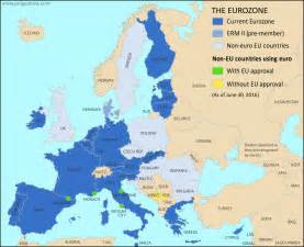 the country of map which countries use the map of the eurozone