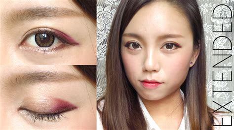 Eyeshadow Orang Korea korean ulzzang style burgundy makeup for fall madokeki