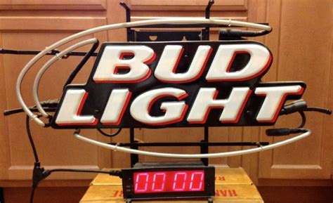 bud light light up sign budweiser clock for sale