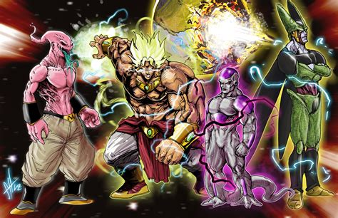 dragon ball z villains wallpaper dbz villains by scottssketches on deviantart