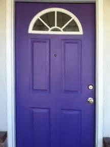purple war new front door