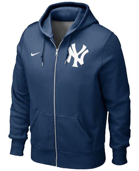 Vest Hoodie Rompi Hoodie Zipper Nike Logo 1 King Clothing nike s new york yankees zip hoodie sweatshirt in blue for lyst