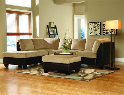 microfiber l shaped couch 2 tone l shape sectional sofa in brown bella microfiber