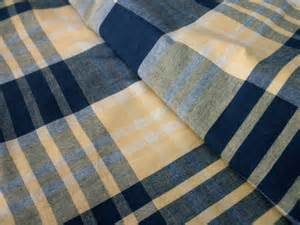 Navy And Yellow Curtains Cottage Shower Curtain Plaid Cotton Navy Yellow