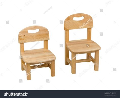 small wooden chair kid stock photo 78123751