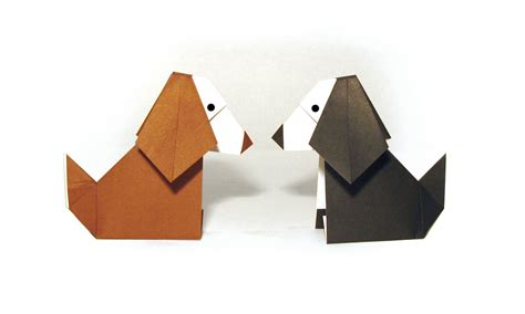 Origami Dogs - easy origami tutorial how to make an easy origami