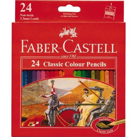 Pensil Warna Faber Castell Classic 24 faber castell classic colour pencils 24 pack the warehouse