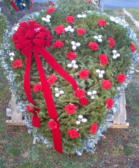 grave side christmas tree grave blanket monument saddles vase grave blankets wreaths and more for the cemetery