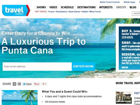 January Sweepstakes - travel channel january 2015 sweepstakes