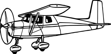 plane coloring pages illustration of a cessna airplane coloring page
