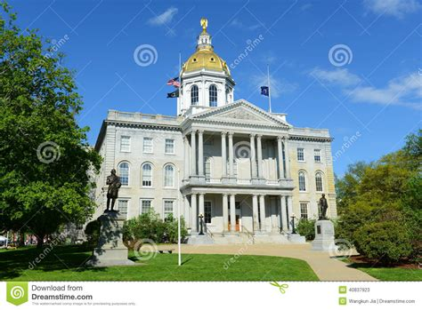 state house news new hshire state house concord nh usa stock photo