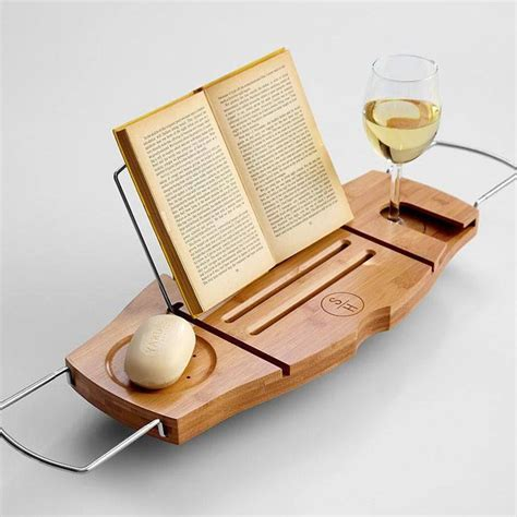Bathtub Book Holder bathtub caddy with a book stand images frompo