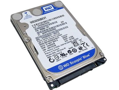 Hardisk Laptop Wd Scorpio Blue 500gb goharddrive western digital scorpio blue wd3200bevt 320gb 8mb cache 5400rpm sata2