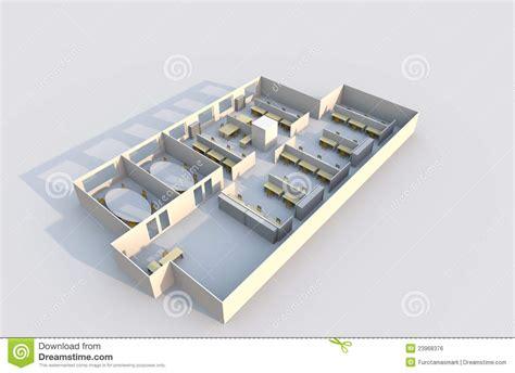 arri鑽e plan du bureau plan du bureau 3d image libre de droits image 23968376