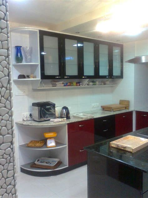 Small Parallel Kitchen Design Design Ideas Of Modular Small Kitchen With Parallel Shape And Black Colors Kitchen