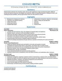 sample resume for assembly line worker assembly line worker resume getessay biz assembly line worker cover letter sample livecareer