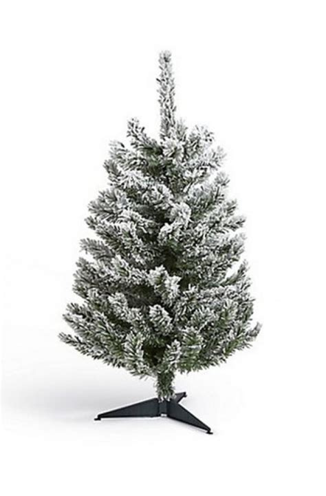 faux tiny christmas trees best artificial trees trees 3 ft flocked tree goodtoknow