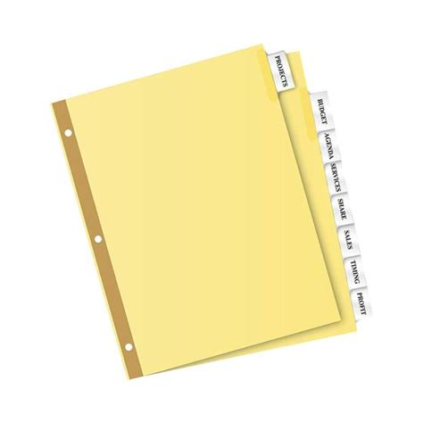 8 large tab insertable dividers template custom card template 187 avery tab templates free card