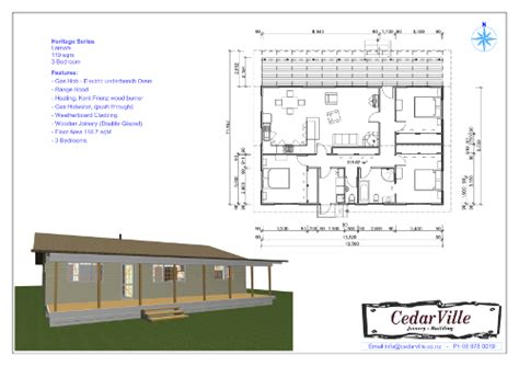how many square is a 3 bedroom house 3 bedroom 119 square metre house plan cedarville