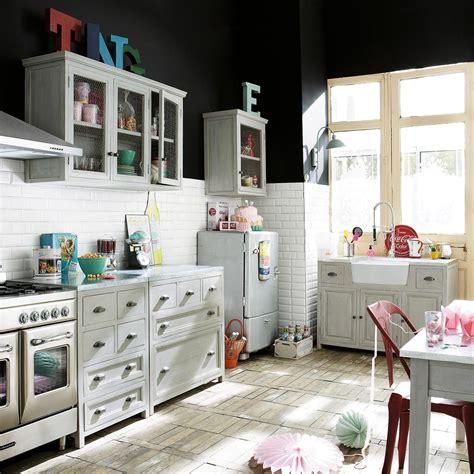 cuisine zinc maison du monde meuble bas de cuisine en manguier massif gris l 90 cm zinc